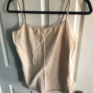 Nude scoop neck cami